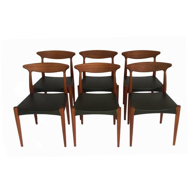 1960s 1960's Danish Mid-Century Modern Arne Hovmand-Olsen Model Mk 310 Teak Dining Chairs - Set of 6 For Sale - Image 5 of 13