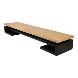 Exceptional Cork Top Bench by Paul Frankl for Johnson Furniture Co For Sale