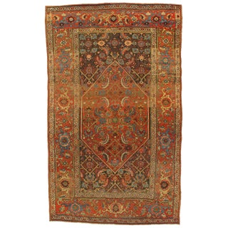 Late 19th Century Antique Persian Bidjar Hand-Knotted Rug - 4′5″ × 7′2″ For Sale