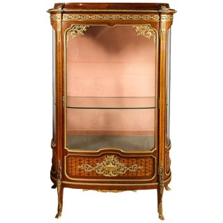 Francois Linke, an Exceptional French Ormolu-Mounted Kingwood Vitrine Cabinet For Sale
