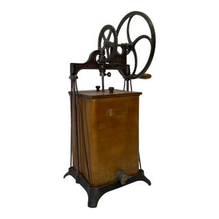 19th Century Maple & Cast Iron Butter Churner For Sale