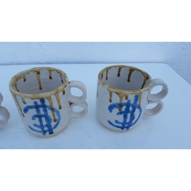 1975 Blackwell Hand Thrown Coffee Mugs - Set of 4 For Sale In Miami - Image 6 of 7