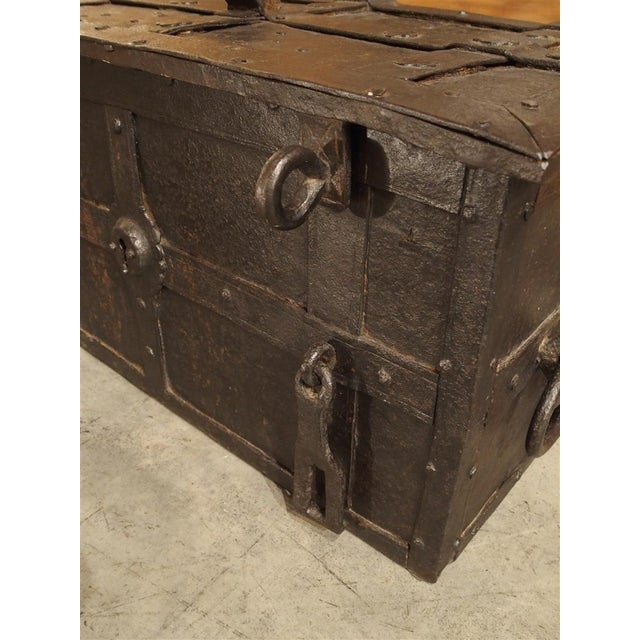 Iron 17th Century Iron Strongbox from a Ship For Sale - Image 7 of 11
