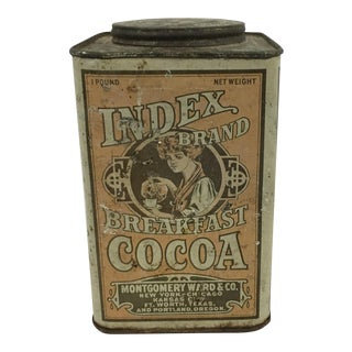 Vintage Index Brand Breakfast Cocoa Tin - 1lb