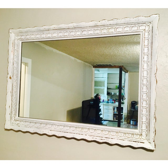 Shabby Chic White Mirror - Image 2 of 6