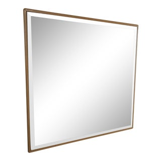 Vintage 1970s Square Smoked Wall Mirror For Sale
