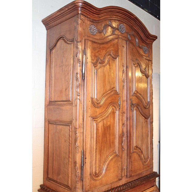 French Louis XV Walnut Armoire Pantalonniere - Image 3 of 10