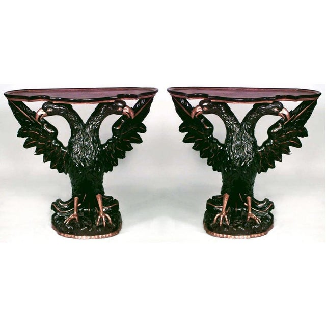 Pair of Continental Austrian/Hungarian '19th Century' Console Tables For Sale - Image 4 of 4