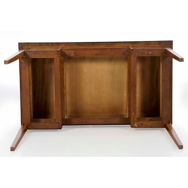 Biedermeier Style Inlaid Fruitwood Writing Table For Sale - Image 12 of 13