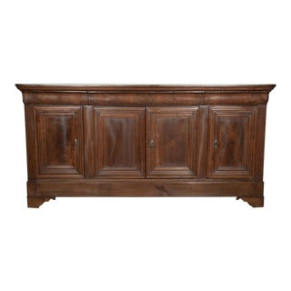 19th Century French Louis Philippe Enfilade Buffet With Bookmatched Front For Sale