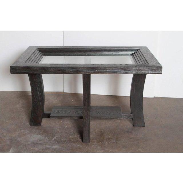 Post Art Deco Cerused Oak Side Table by Brown Saltman Paul Frankl For Sale - Image 11 of 11
