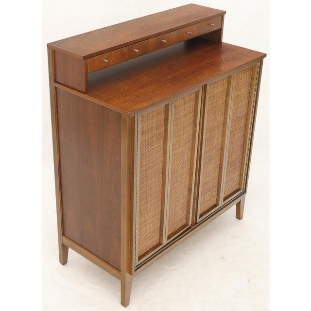 Wood Mid-Century Modern High Chest Dresser With Separate Jewelry Compartment on Top For Sale - Image 7 of 10