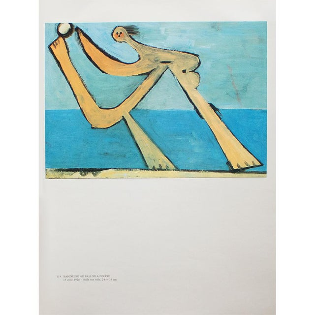 """1985 Pablo Picasso, """"Bather With a Ball"""" Parisian Photogravure For Sale In Dallas - Image 6 of 8"""
