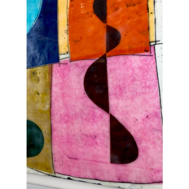 """""""Seventeen Summers Ago"""" Encaustic Collage Painting by Gina Cochran For Sale - Image 4 of 4"""