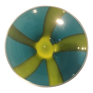Turqouise Art Glass Bowl