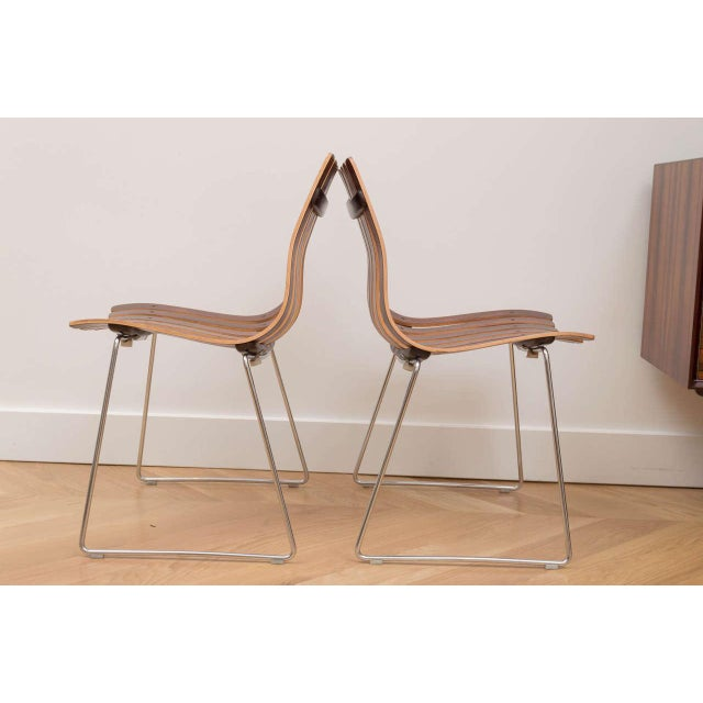 Hans Brattrud Rosewood Chairs - Set of 4 For Sale - Image 5 of 8
