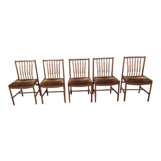 Mid Century Modern Chairs- Set of 5 For Sale