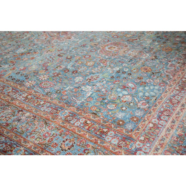 "Vintage Distressed Meshed Carpet - 8'8"" x 11'4"" - Image 5 of 10"