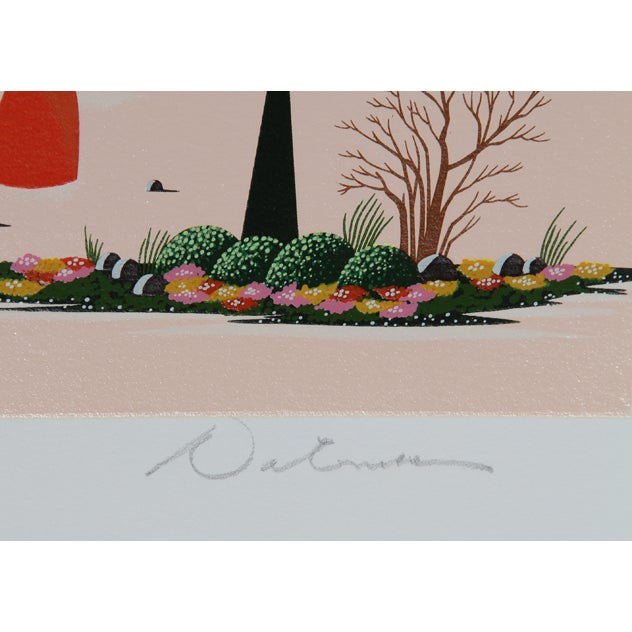 Serigraph, signed and numbered in pencil, by Japanese/American artist Nicky Watanabe. Artist: Nicky Watanabe,...