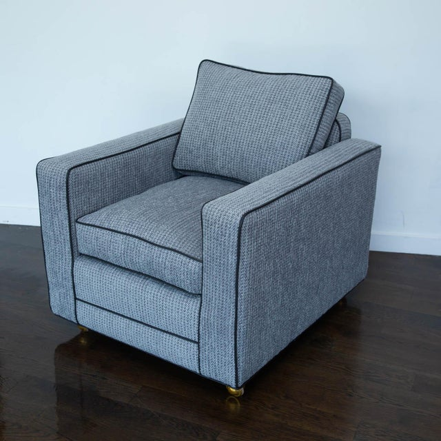 Pair of Berkhardt Tuxedo Lounge Chairs For Sale - Image 11 of 11