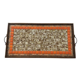 Mid-Century Mosaic Tray For Sale