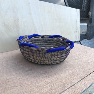 Royal Blue and Pine Needle Basket Preview