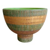 Image of Vintage Bitossi Italy Ceramic Footed Bowl For Sale