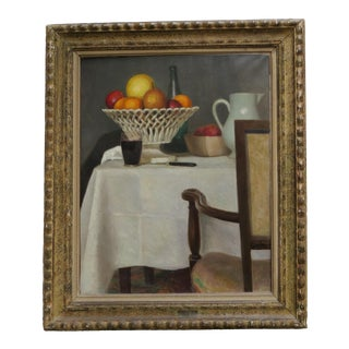 Chair Still Life by Pierre Gandon Painting For Sale