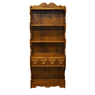 20th Century Country Kling Colonial Solid Pine Wall Unit / Bookshelf For Sale