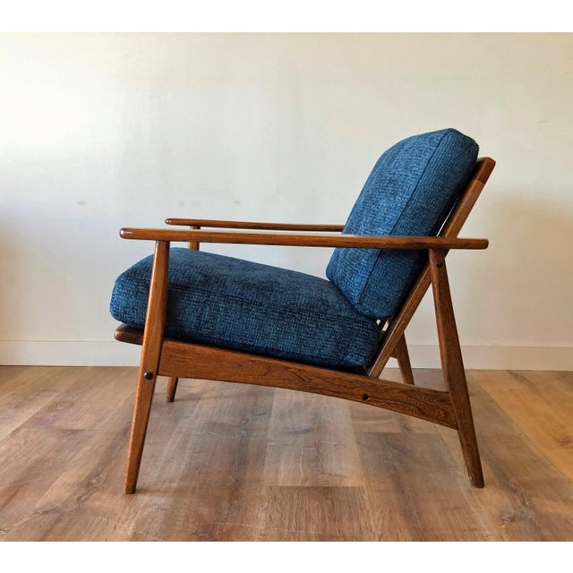 Wood Mid-Century Modern Walnut Arm Chair For Sale - Image 7 of 13