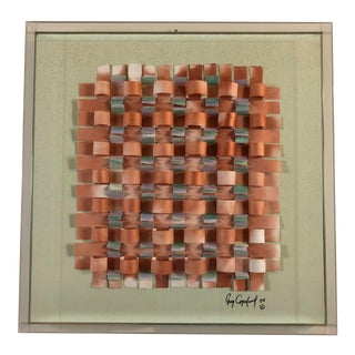 Greg Copeland Mixed Media Paper Sculpture in Shadowbox For Sale