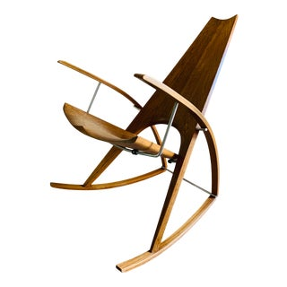 Mid Century Modern Leon Meyer Sculptural Rocking Chair For Sale