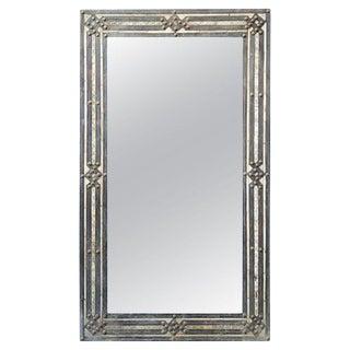 Moroccan Rectangular Metal Inlay Mirror For Sale