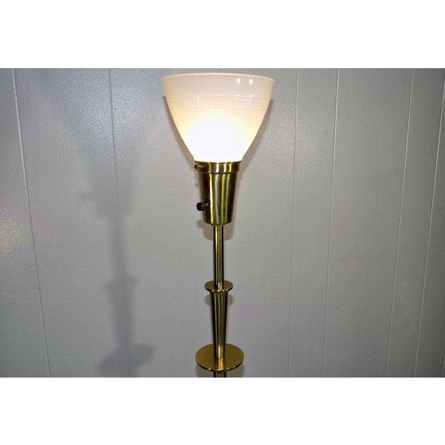 Stiffel 1960s Mid-Century Modern Stiffel Starburst Brass Torchiere Floor Lamp For Sale - Image 4 of 13