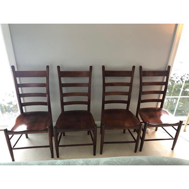 Wood Nichols and Stone Side Chairs- Set of 4 For Sale - Image 7 of 11