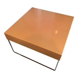 Per Weiss and Jens Vang Danish Modern Lacquered Coffee Table With Chrome Legs