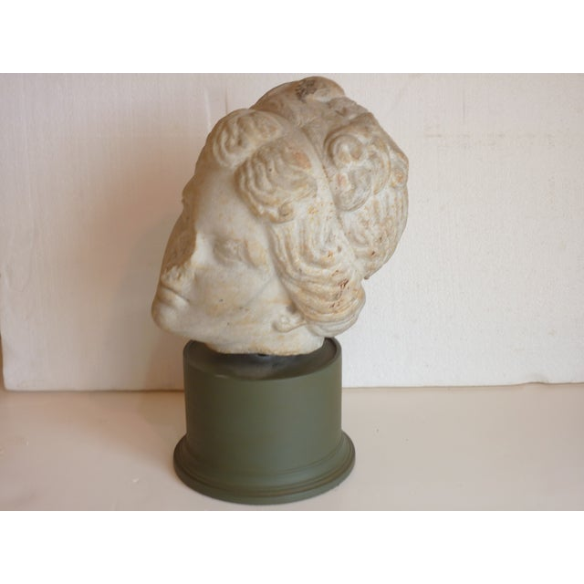 Carved Stone Head of Goddess - Image 5 of 5