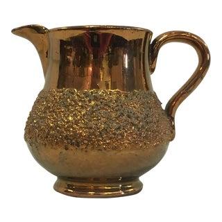 Antique Copper Lustreware Jug