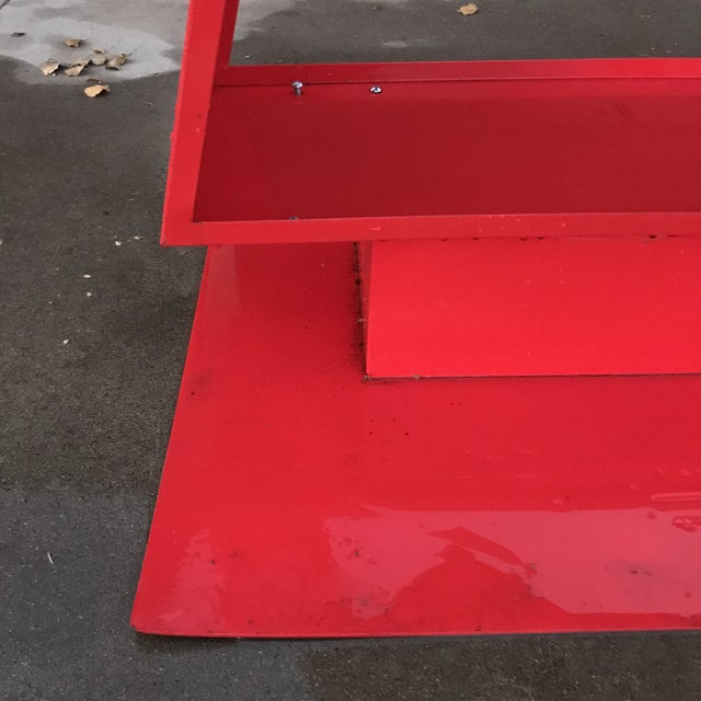 Red Abstract Sculpture For Sale - Image 9 of 11
