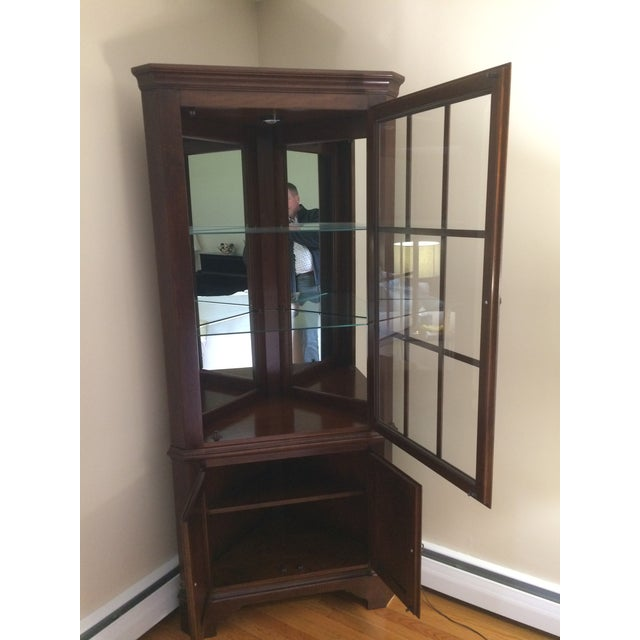 Traditional Jasper Corner China Cabinet For Sale - Image 3 of 4