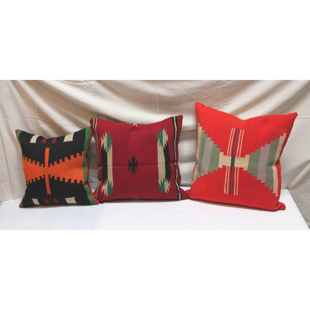 Group of Three Rare Germantown Indian Weaving Pillows - Image 6 of 7