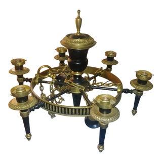 1800- 1910 Brass Chandelier For Sale