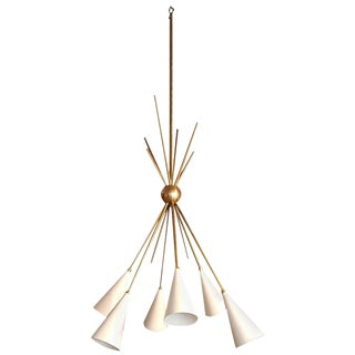 """""""Bouquet"""" Chandelier in Enamel and Brass by Studio Machina for Blueprint Lighting"""