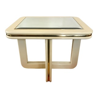 Vintage Lacquer Coffee Table Mirror Top For Sale