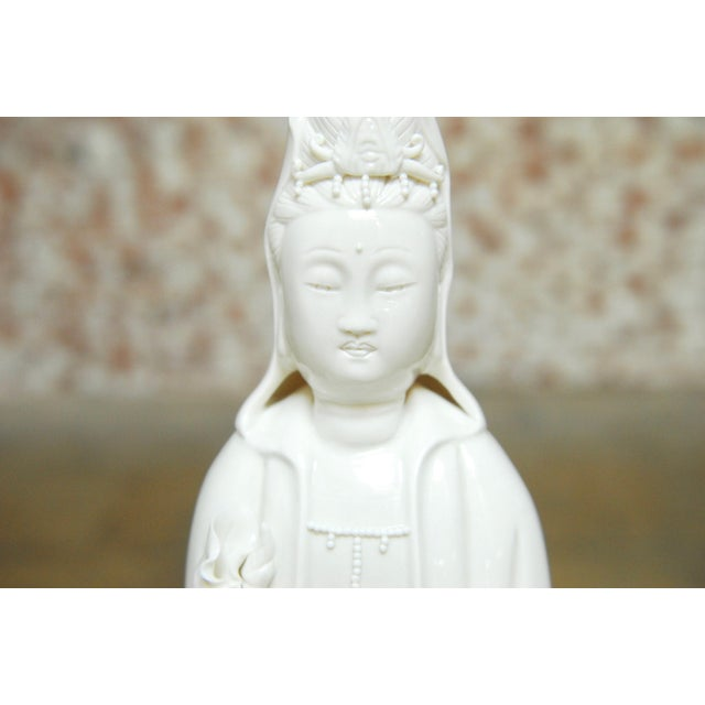 Asian Dripping Water Guan Yin on Dragon Buddha Statue For Sale - Image 3 of 10
