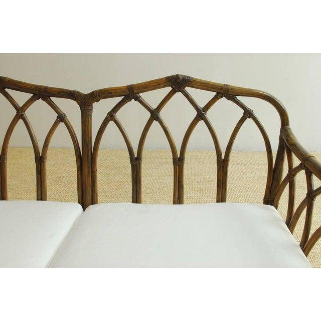 McGuire McGuire Organic Modern Bamboo Rattan Sofa For Sale - Image 4 of 13