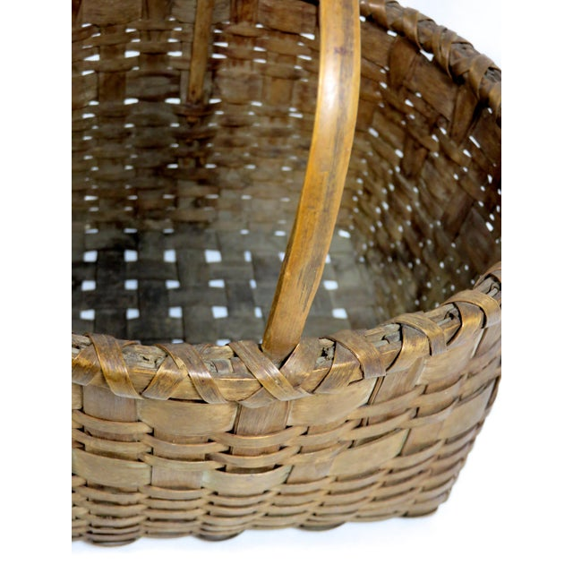 20th Century Rustic Maine Woven Basket For Sale - Image 9 of 13