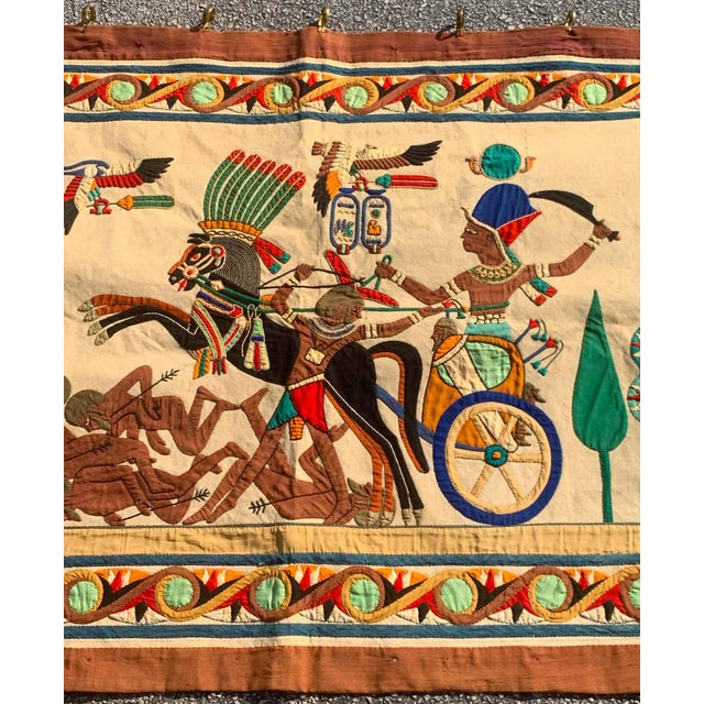 Early 20th Century French Grand Tour Egyptian Tomb Tapestry, Circa 1925 For Sale - Image 5 of 9