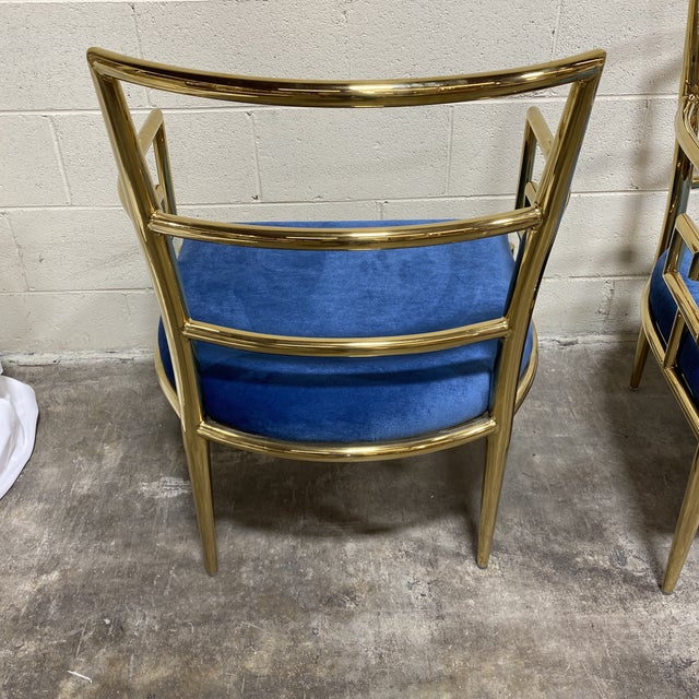 Kathy Ireland Gold Accent Chairs - a Pair For Sale - Image 4 of 10