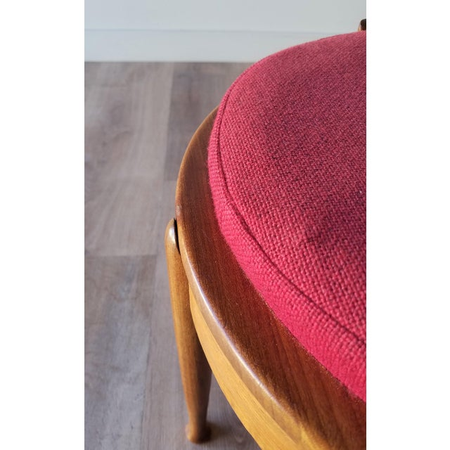 B.J Hansen Mid-Century Modern Teak Flip Top Table/Stool For Sale In Seattle - Image 6 of 10